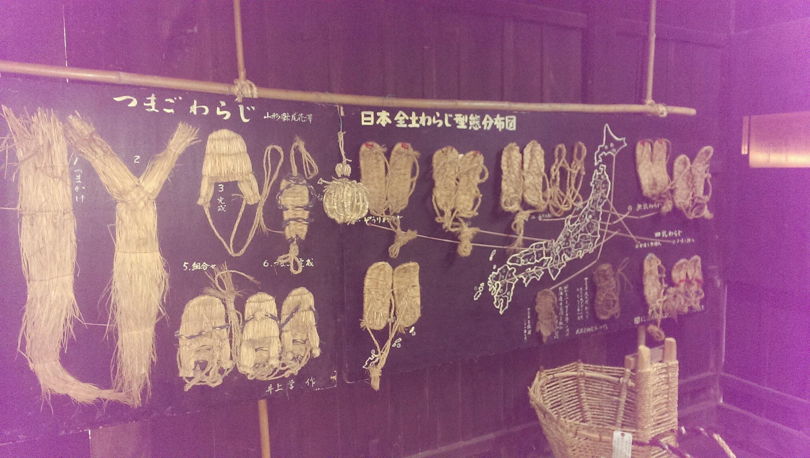 日本全土の草鞋